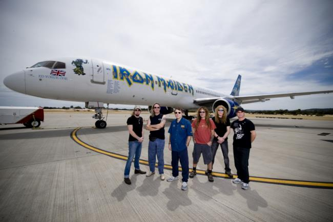 Gli Iron Maiden con il Flight 666