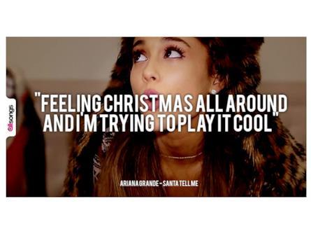 Frasi Di Natale Gossip Girl.Frasi Ariana Grande Santa Tell Me Allsongs