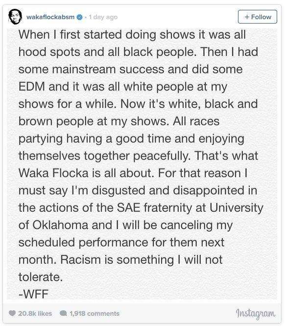 Su Instagram, il rapper e DJ afroamericano ha fornito le sue motivazioni riguardo la cancellazione del live.