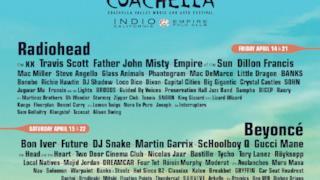 Primi nomi del Coachella 2017