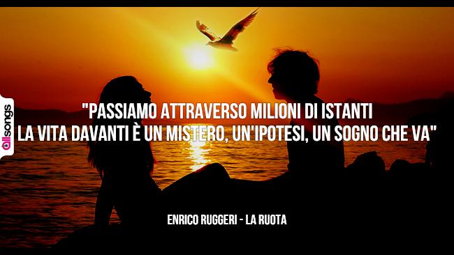 Enrico Ruggeri: le migliori frasi dei testi delle canzoni