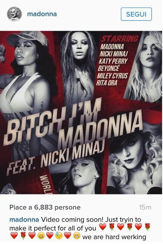 La locandina del video Bitch I'm Madonna