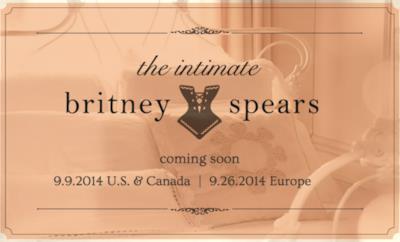 Pubblicità di lancio per la linea di lingerie di Britney Spears