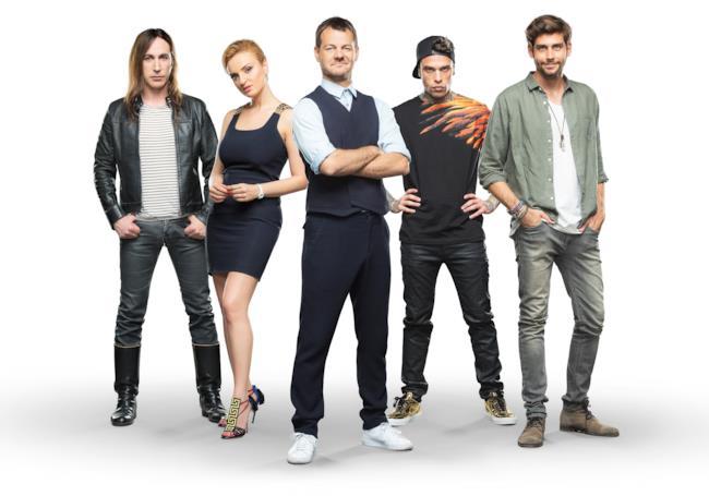 Fedez, Alvaro Soler, Arisa e Manuel Agnelli con Alessandro Cattelan per X Factor 10