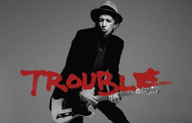 La cover del singolo Trouble di Keith Richards