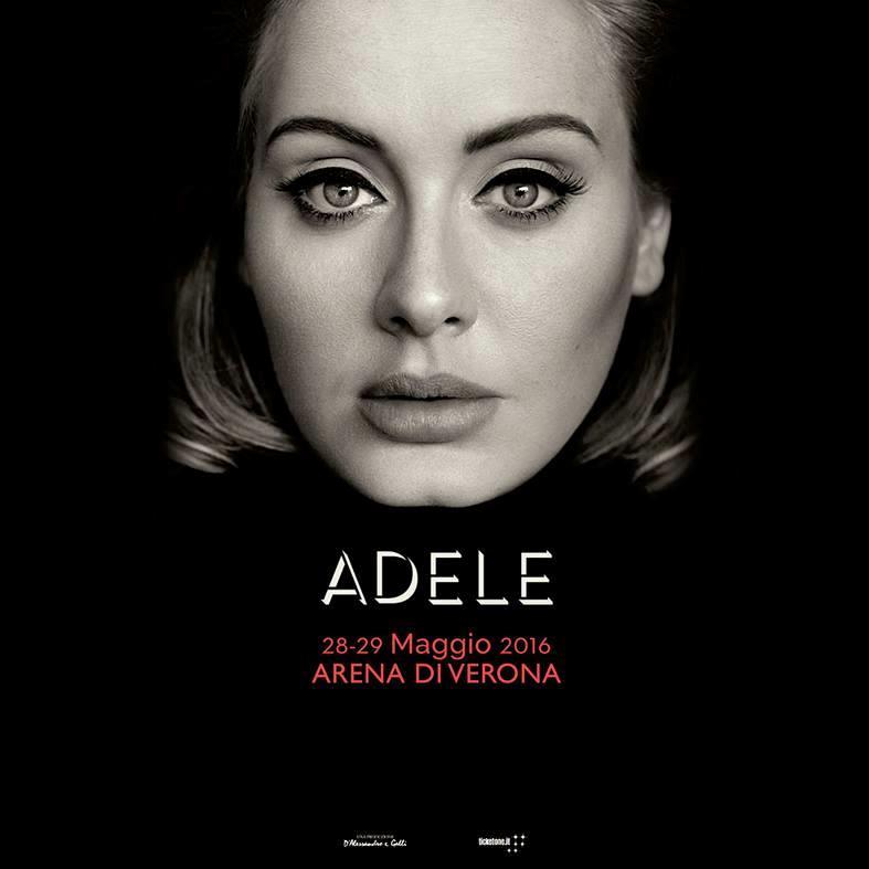 Adele live nel 2016 all'Arena di Verona con due concerti