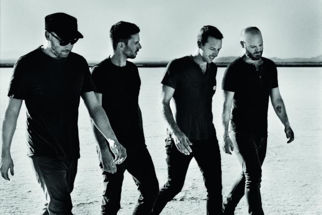 I 4 membri dei Coldplay