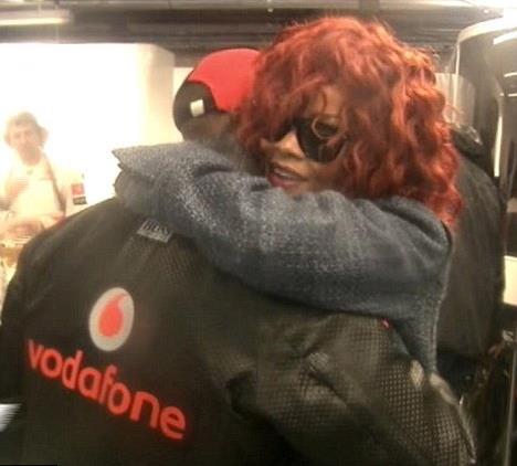 Rihanna e il campione di F1, Hamilton