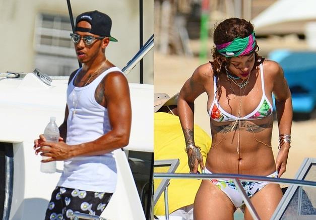 Rihanna e Lewis Hamilton insieme su uno yacht a Barbados