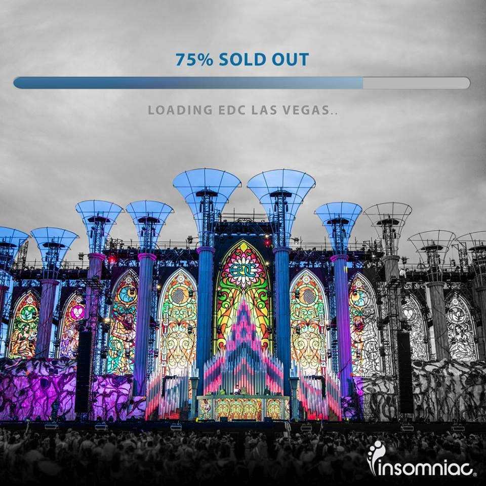 La percentuale di vendita dei biglietti per l'EDC di Las Vegas ha già raggiunto il 75%