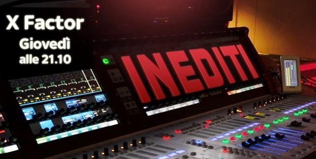 X Factor 8 con la scritta inediti