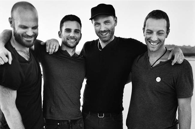 Chris Martin e gli altri membri dei Coldplay