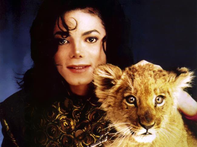 Michael Jackson con cucciolo di leone