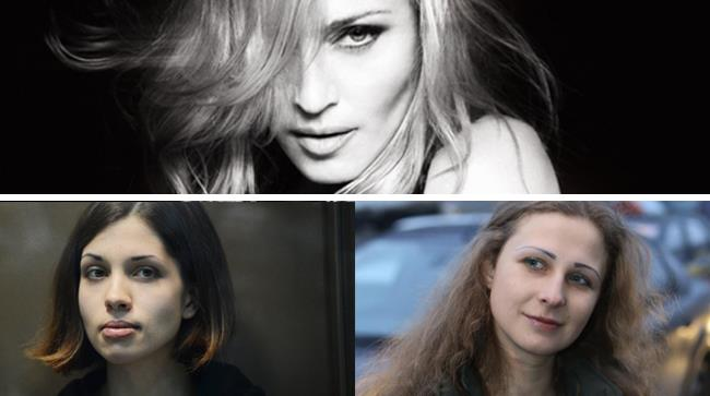 Due delle Pussy Riot e Madonna