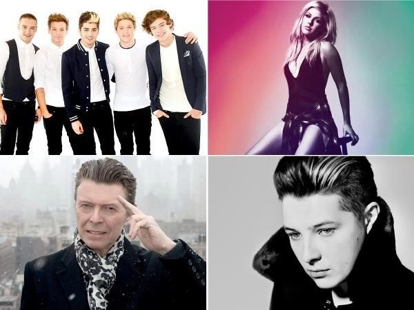 One Direction, Ellie Goulding, David Bowie, John Newman