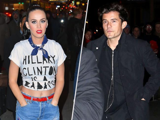 Katy Perry e Orlando Bloom al concerto per Hillary Clinton