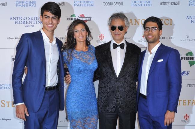 La famiglia Bocelli alla Celebrity Fight Night Italy 2014