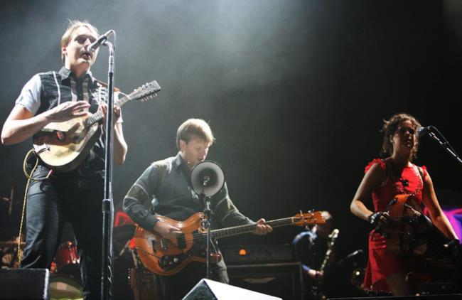 Gli Arcade Fire in concerto