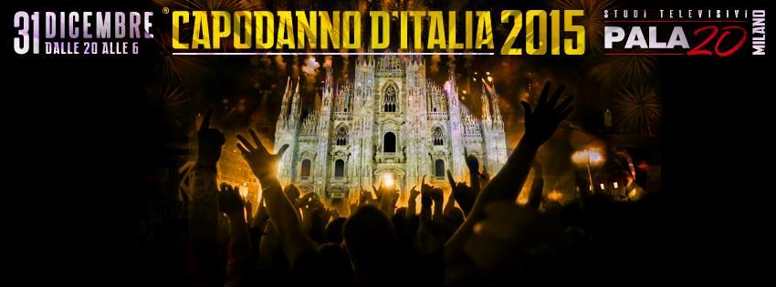 La locandina dell'evento di Capodanno di Milano al Pala20