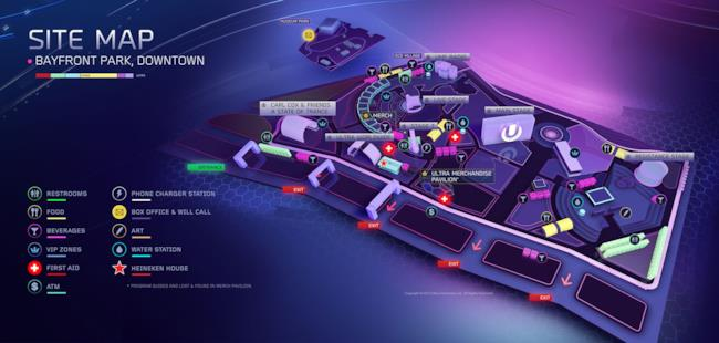 Mappa dell'Ultra Music Festival 2015