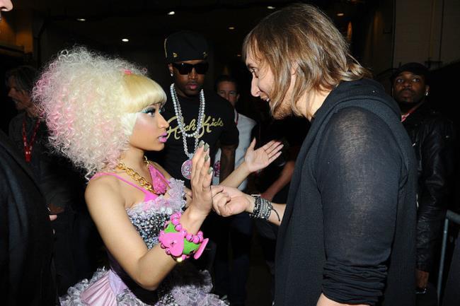 Il dj francese David Guetta con Nicki Minaj