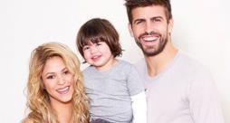 Shakira, il figlio Milan e Gerard Piqué