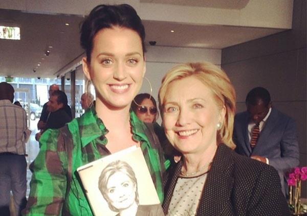 Katy Perry con Hillary Clinton