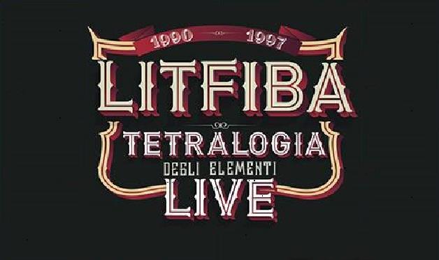 Manifesto Tetralogia degli Elementi live dei Litfiba