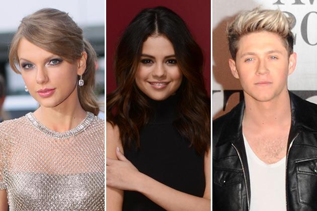 Taylor Swift, Selena Gomez e Niall Horan