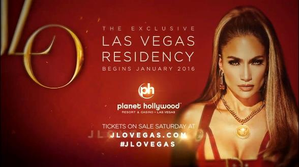 Locandina residency Jennifer Lopez a Las Vegas