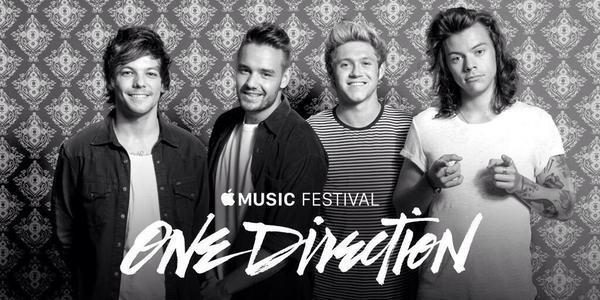 Gli One Direction all'Apple Music Festival di Londra