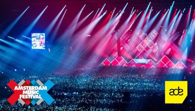 Amsterdam Music Festival con loghi AMF e ADE, Amsterdam Dance Event