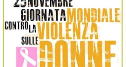 Locandina giornata mondiale contro la violenza sulle donne