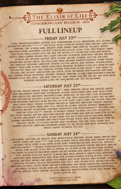 La line up dei tre giorni del festival di Boom