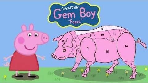 Peppa Pig come un maiale al macello