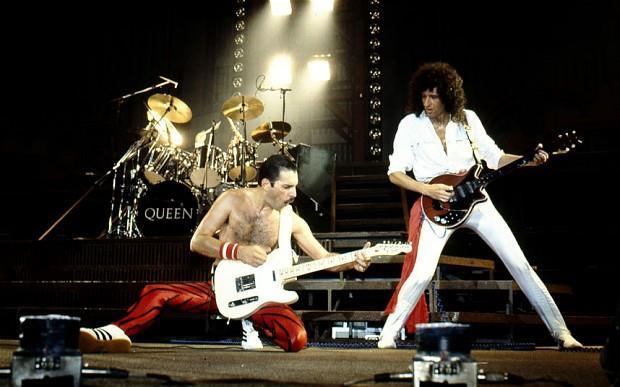 I Queen con Freddie Mercury