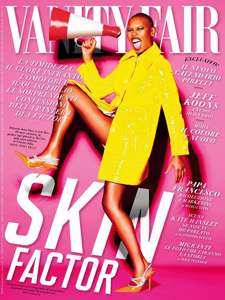 Skin sulla copertina di Vanity Fair Italia presenta il suo Skin Factor