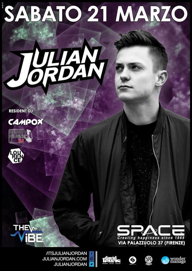Il talento olandese Julian Jordan sarà ospite dello Space Club