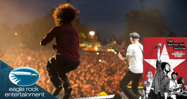 La band Rage Against The Machine live