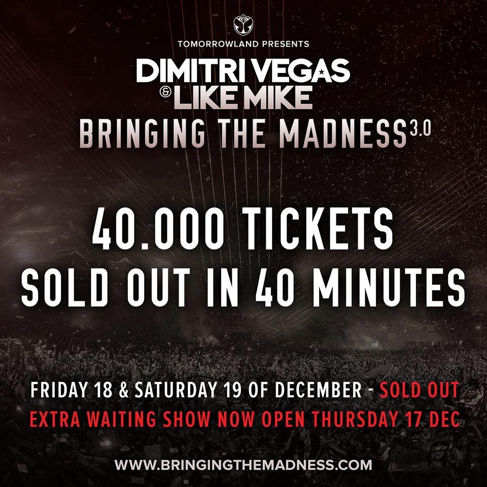 Dimitri Vegas & Like Mike sold-out
