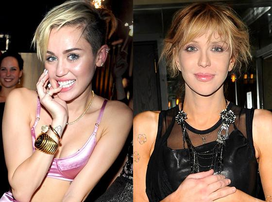 Courtney Love e Miley Cyrus
