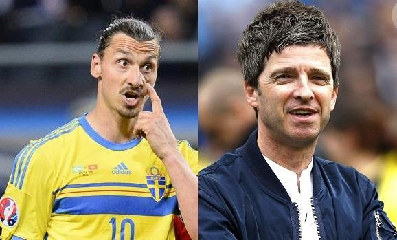 Zlatan Ibrahimovic e Noel Gallagher