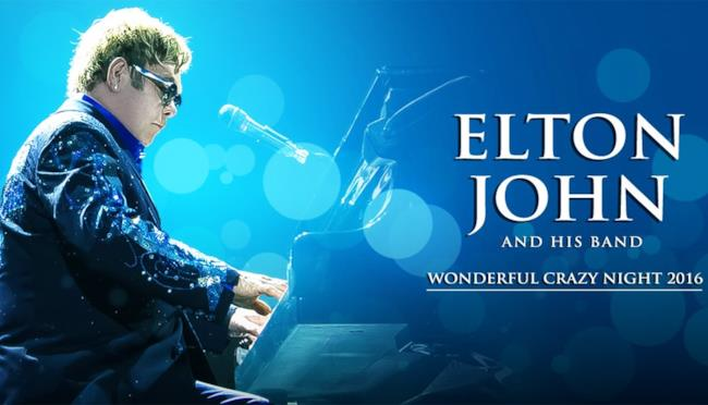Elton John Wonderful Crazy Night Tour Poster