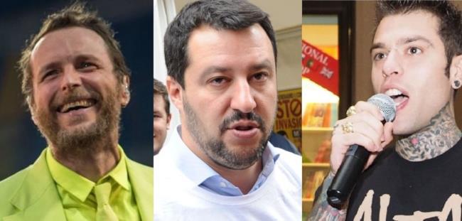 Jovanotti, Matteo Salvini e Fedez