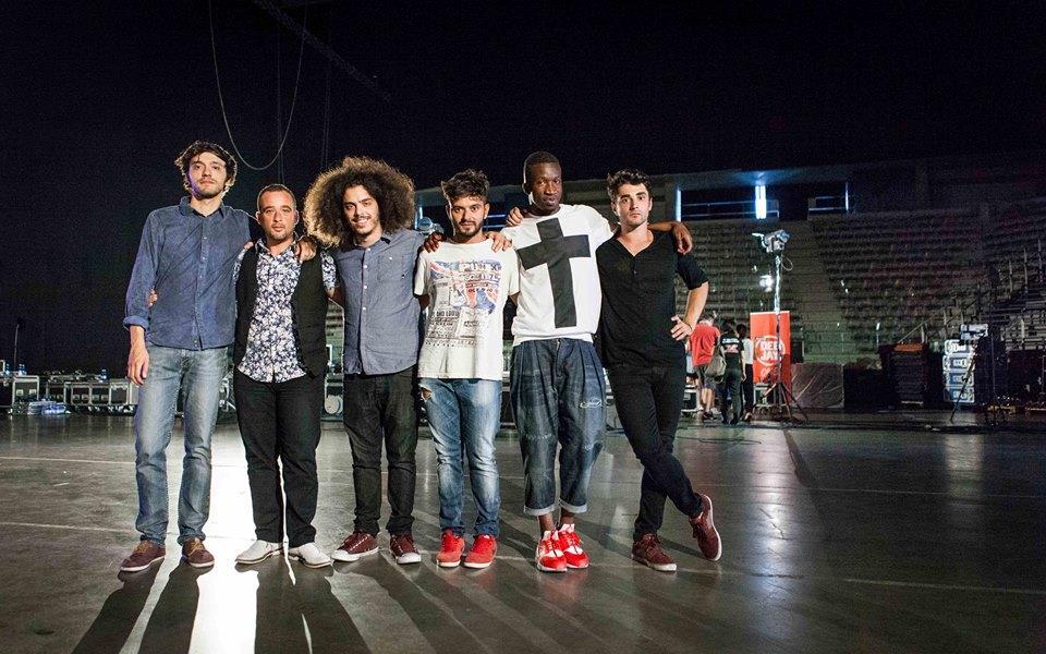 I sei componenti della squadra di Elio (over) a X Factor 9