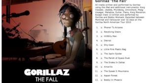 Gorillaz, ecco il primo video da The Fall