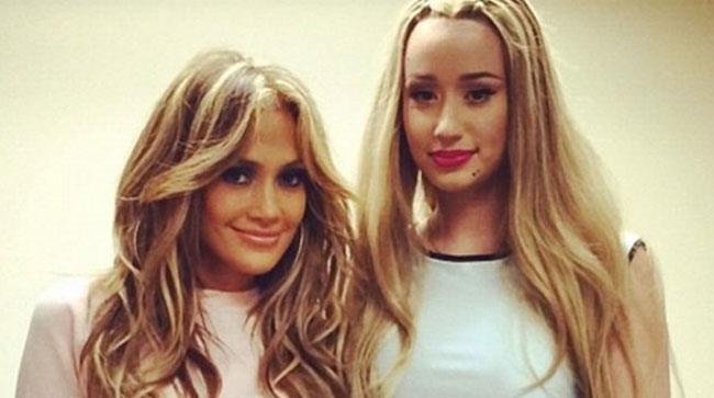 Primo piano di Jennifer Lopez e Iggy Azalea