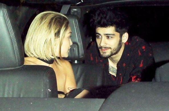 Zayn Malik e Gigi Hadid parlano da soli all'interno di un'auto