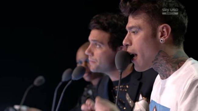Fedez, Mika e Skin nella puntata di X Factor del 22 ottobre 2015