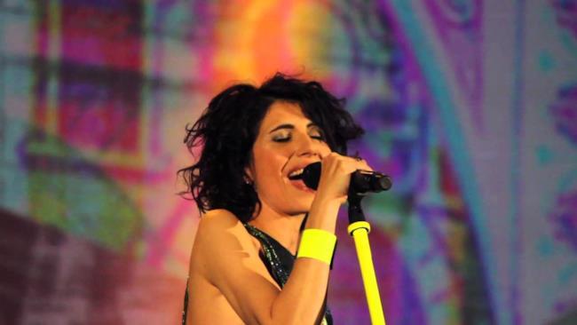 Giorgia live durante il Senza Paura Tour 2014